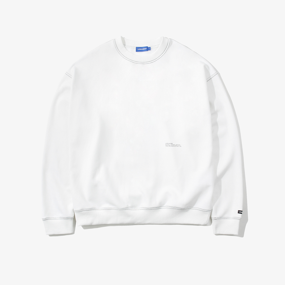 CONTRAST ST OVER SWEATSHIRT FL