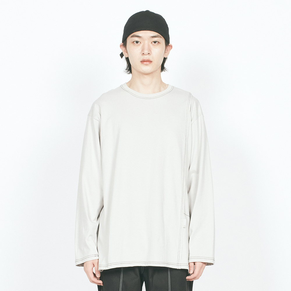 CTRS ST LABEL OVER L/S TEE LIG
