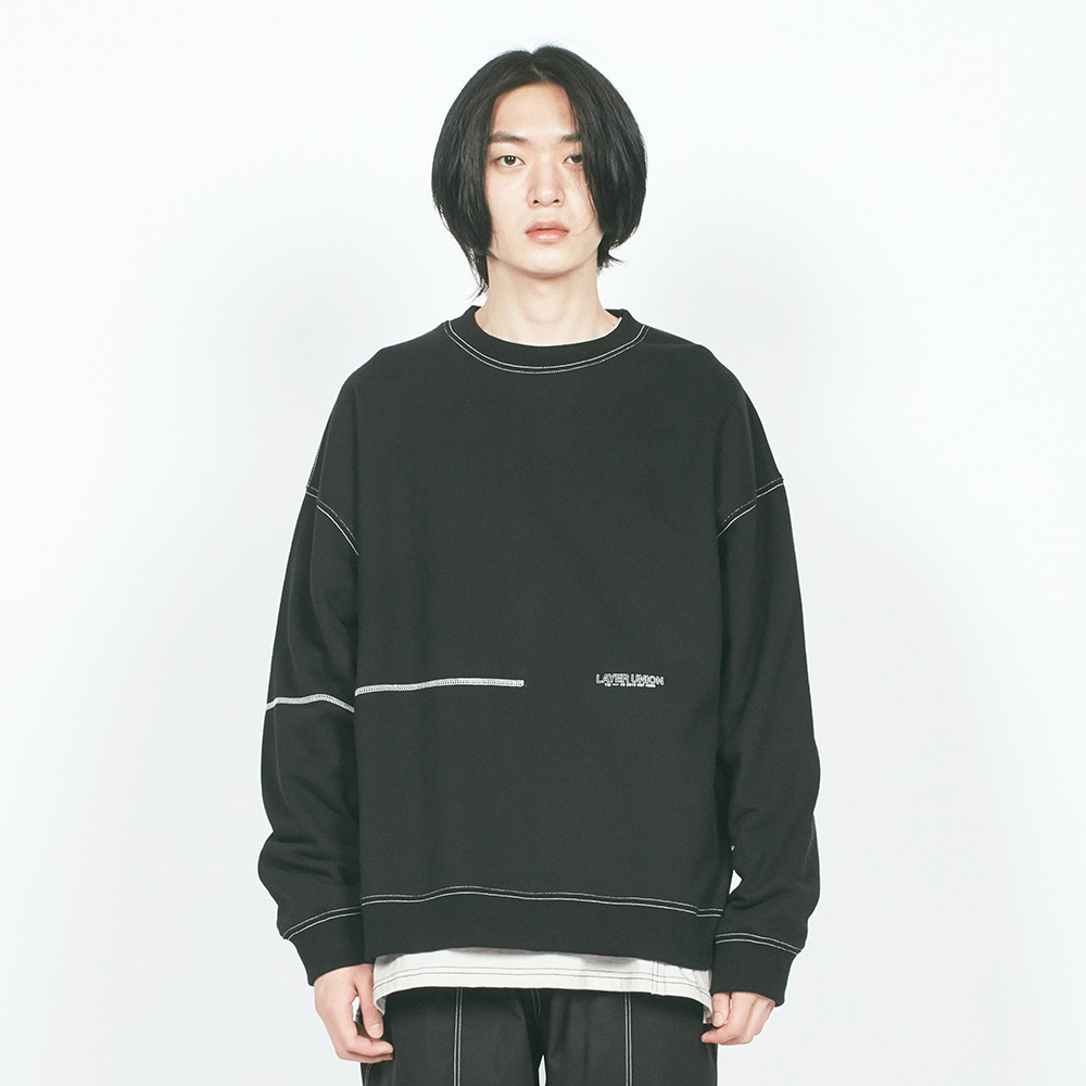 L CTRS ST OVER SWEATSHIRT BLAC