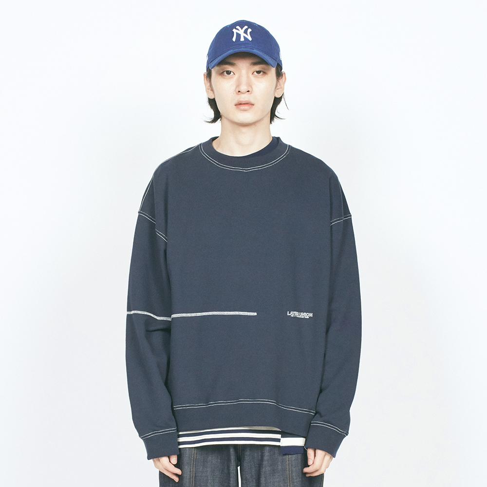 L CTRS ST OVER SWEATSHIRT NAVY