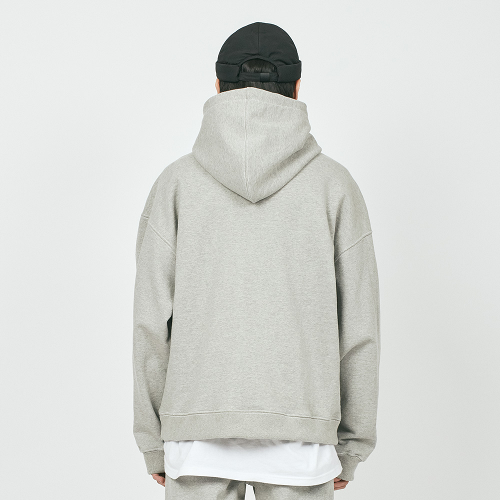 CUT CTRS ST H OVER HOODIE GREY