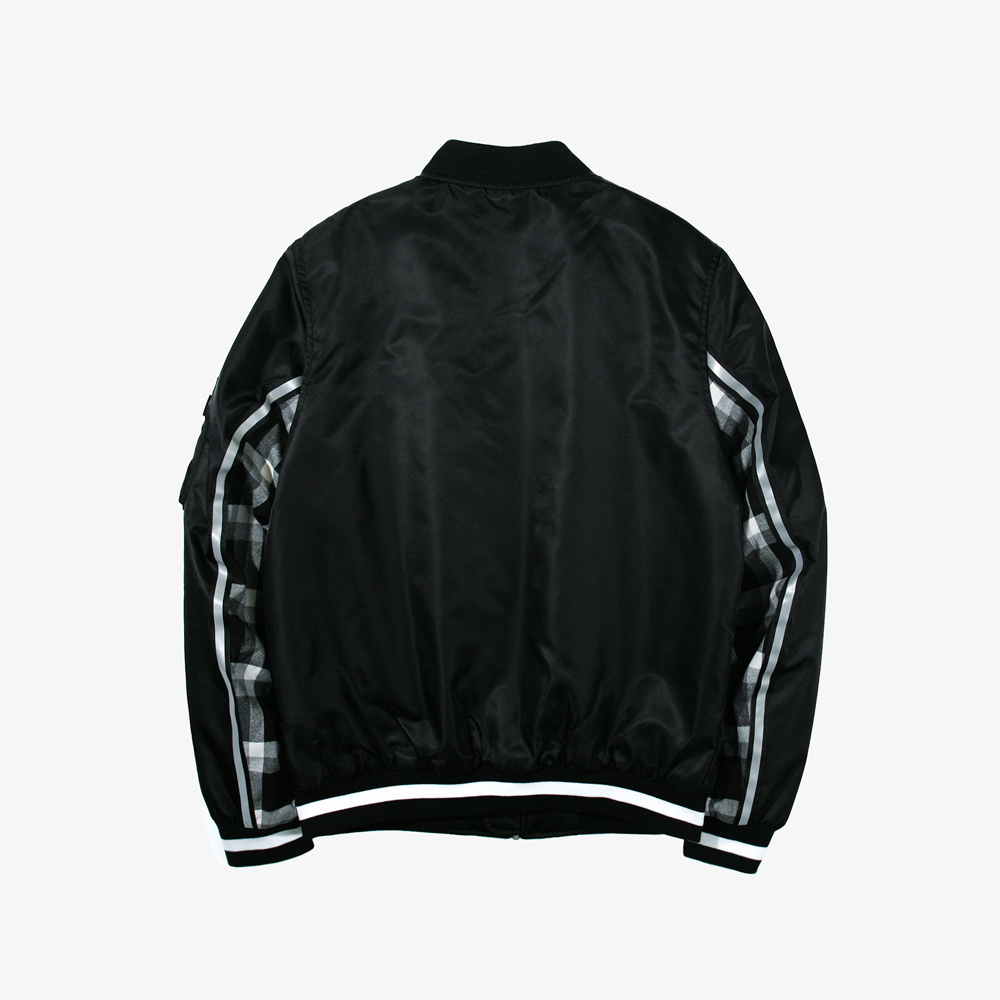CONTRAST MA-1 JACKET BLACK