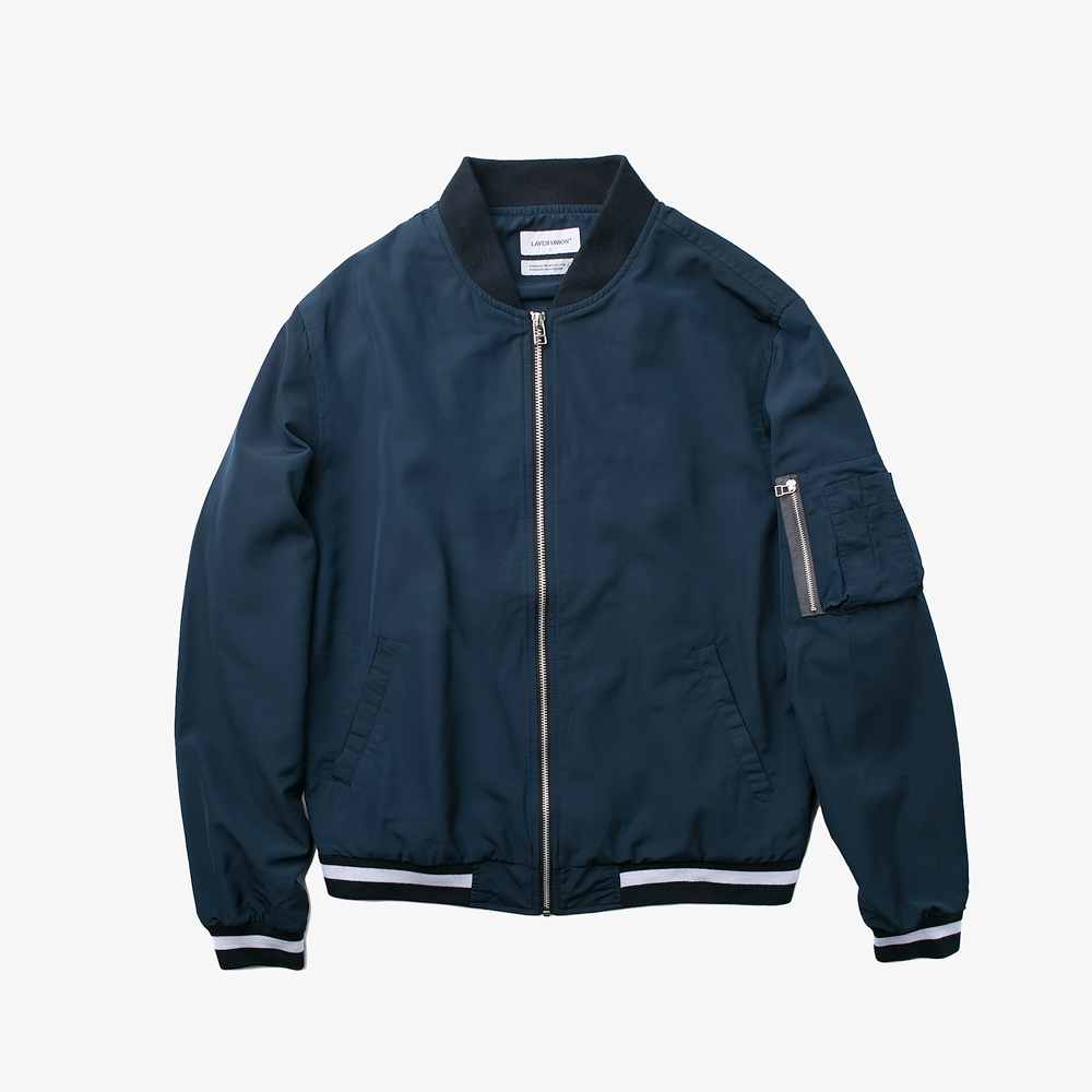 LIGHT MA-1 JACKET NAVY