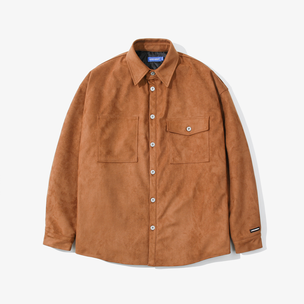 SUEDE OVER SHIRTS QL CAMEL