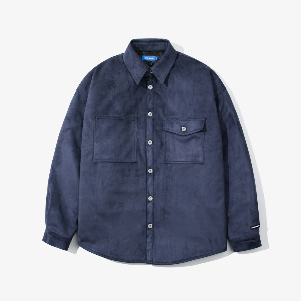 SUEDE OVER SHIRTS QL NAVY