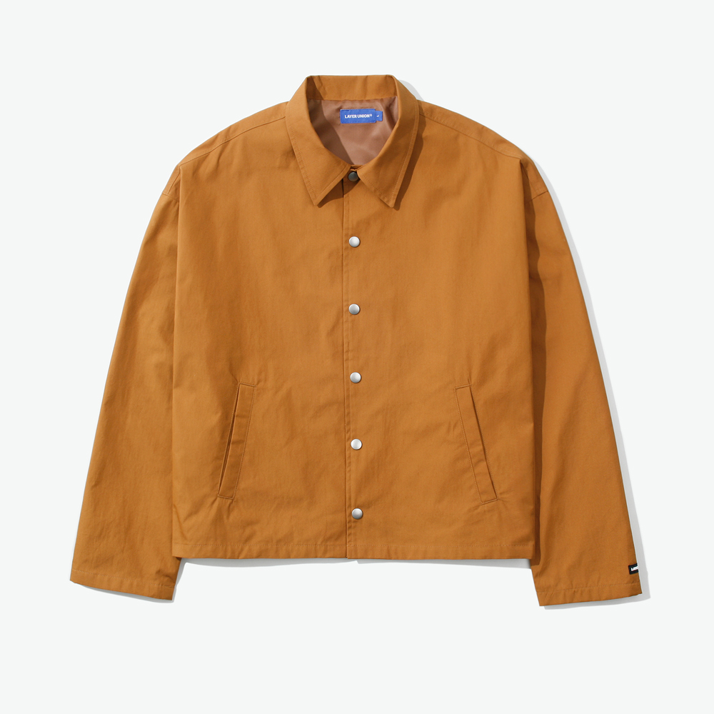 CROPPED OVER COACH JACKET DARK