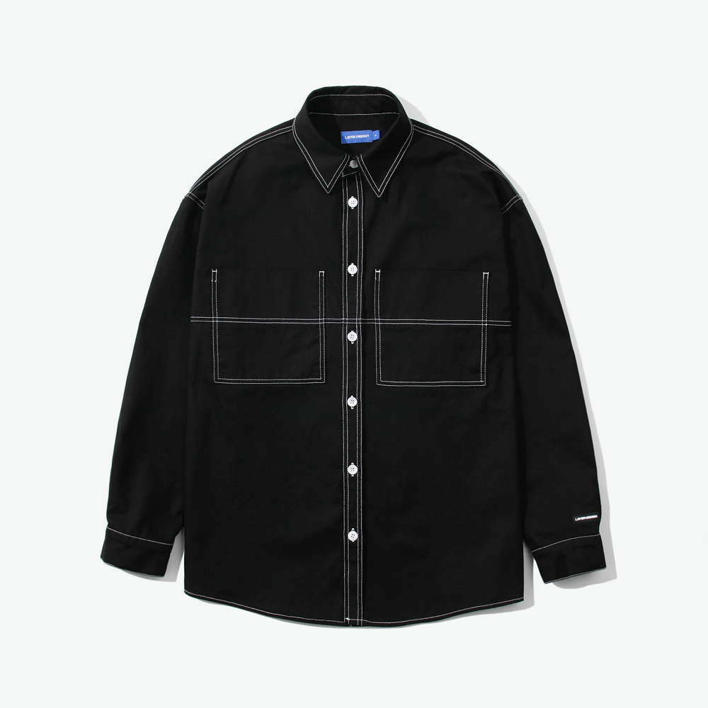 CUT CTRS ST OVER SHIRTS BLACK