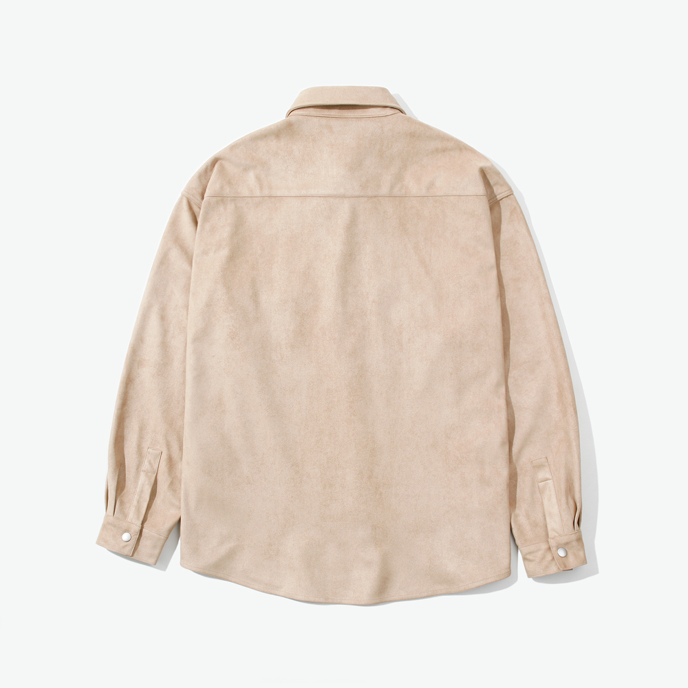 SNAP SUEDE OVER SHIRTS BEIGE