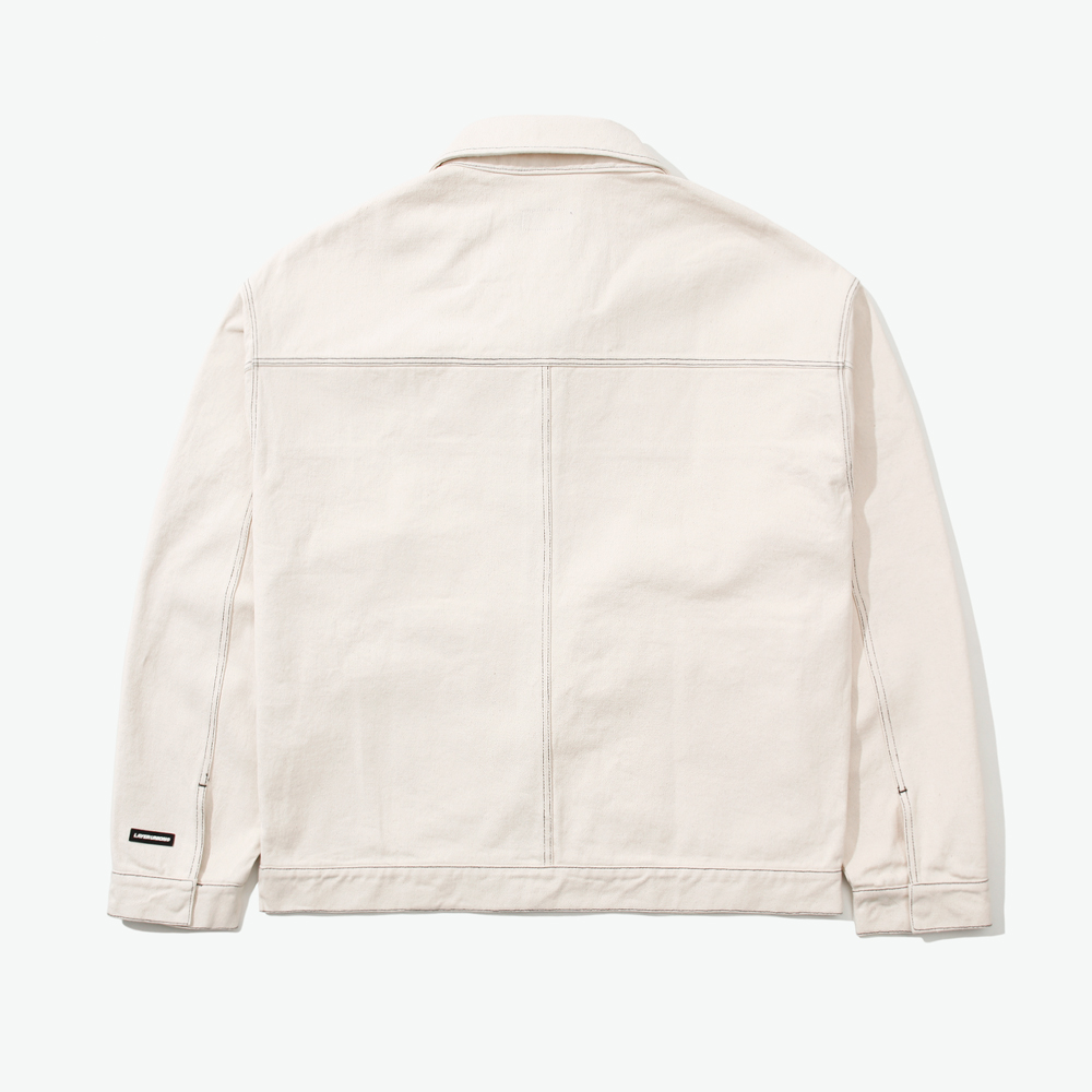 CUT CTRS ST OVER BLOUSON IVORY