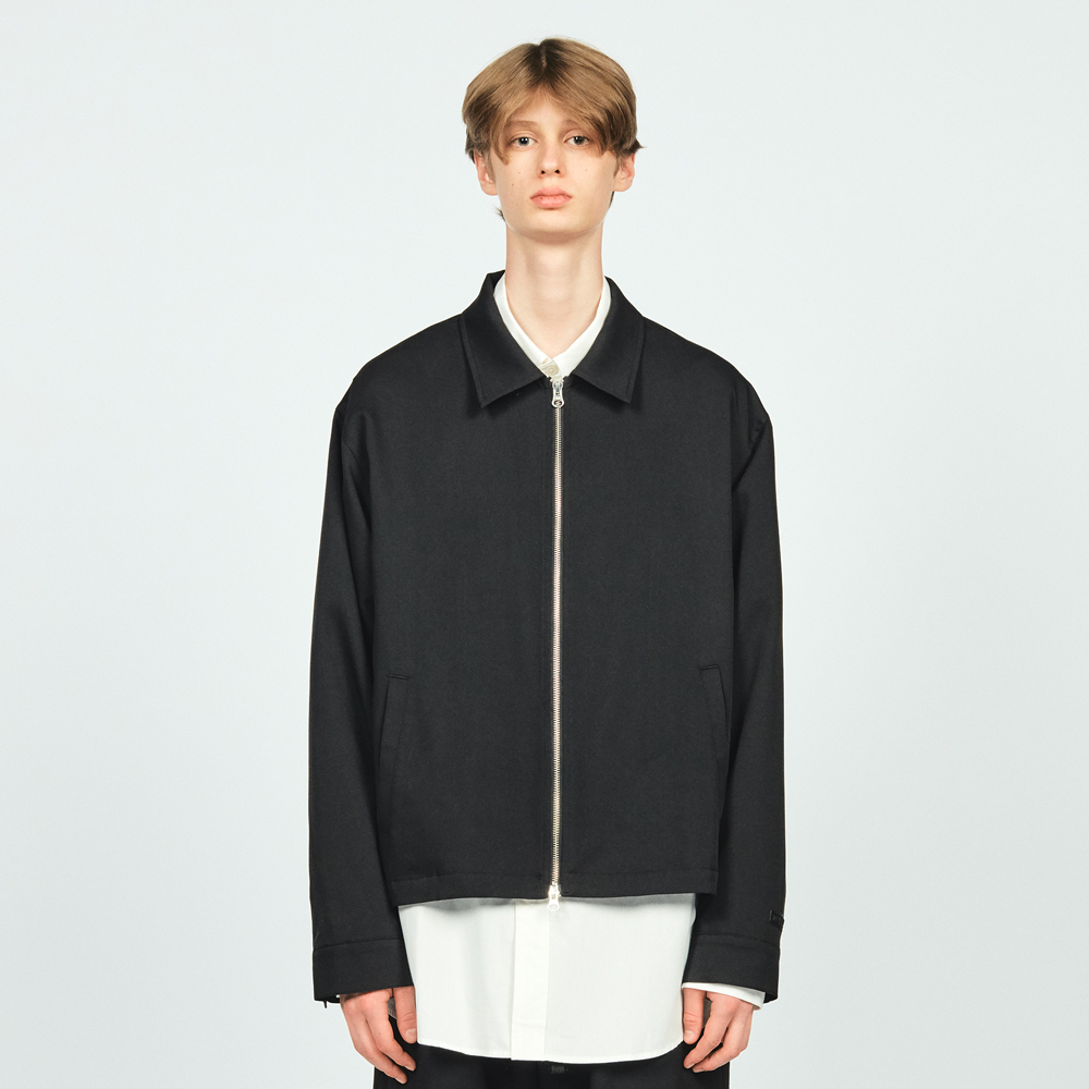 ZIP MINIMAL JACKET BLACK