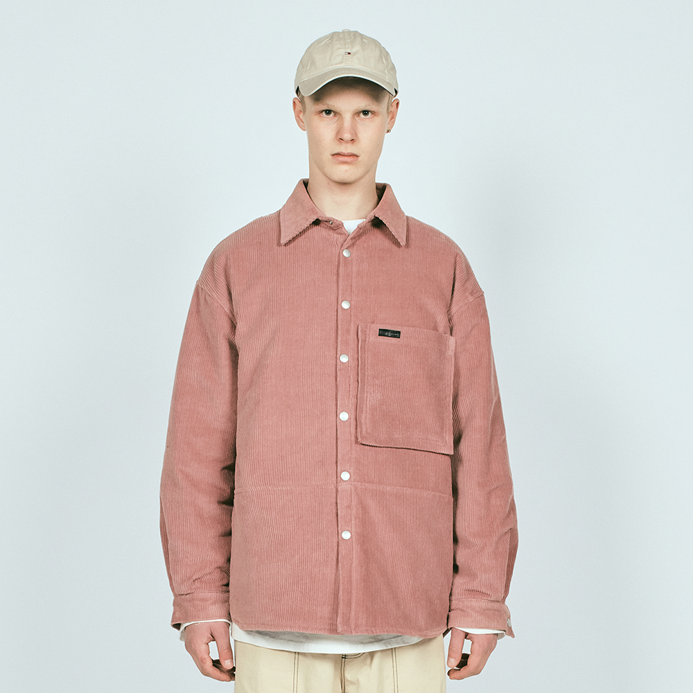 SNAP CORDUROY OVER SHIRTS QL P