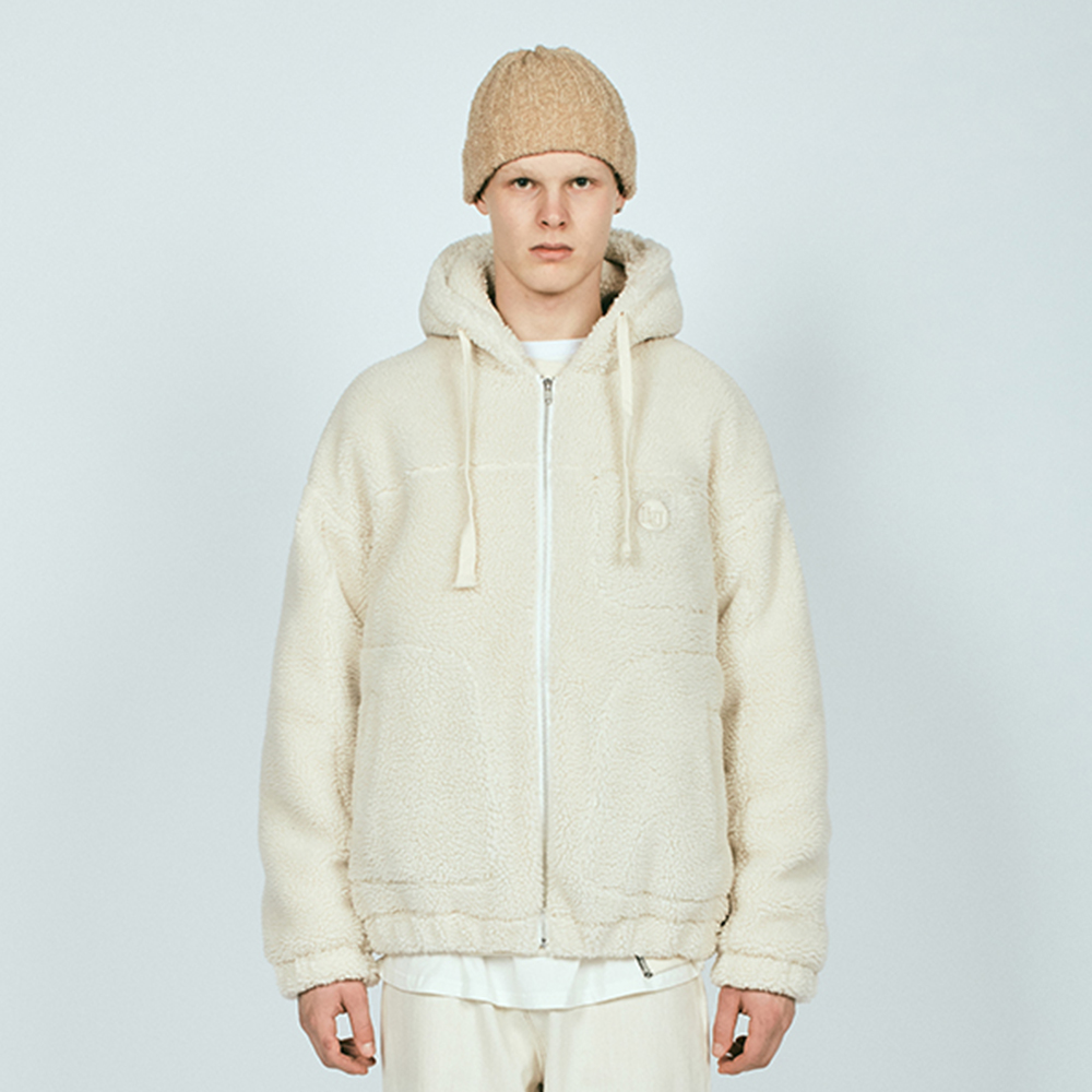 SHERPA HOODED JACKET QL IVORY