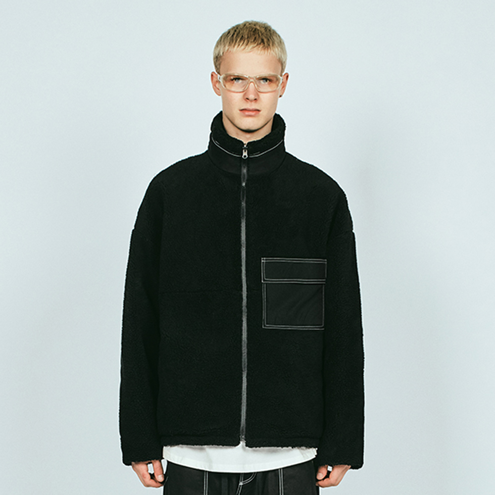 REVERSIBLE SHERPA HN JACKET BL